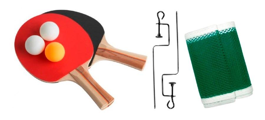 kit para jogo de tênis de mesa ping pong raquete bola rede. Carregando zoom. f7b11c8e7f177