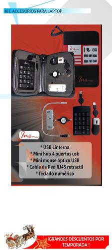 kit para laptop , mouse , microfono , teclado numerico ,red