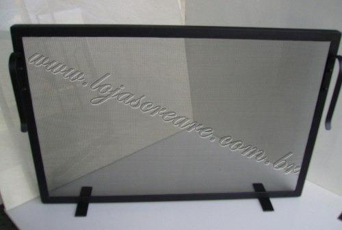 kit para lareira super promoção tela  proteção e acessórios