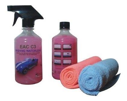 kit para lavagem automotiva a seco 12 lavagens-frete grátis