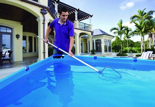 kit para limpeza e manutenção de piscina pro mor 12x