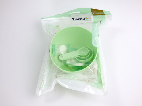 kit para mascarilla facial brocha espatula limpieza facial
