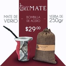 Kit Para Mate Argentino: Mate - Bombilla - Yerba Mate