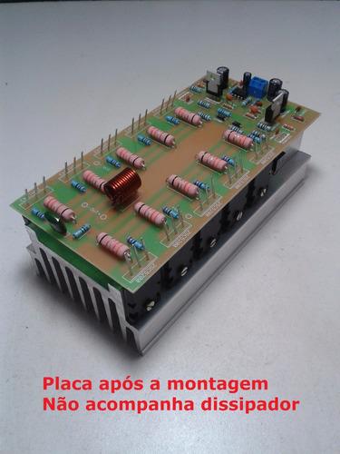 kit para montar amplificador de 700w com 2sc5200/2sa1943