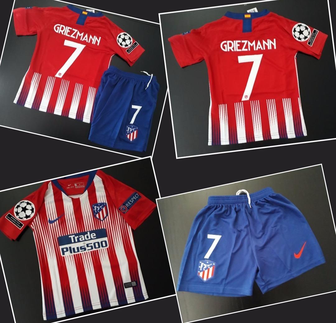b43706d9f6764 kit para niños camiseta y short atletico madrid griezmann. Cargando zoom.