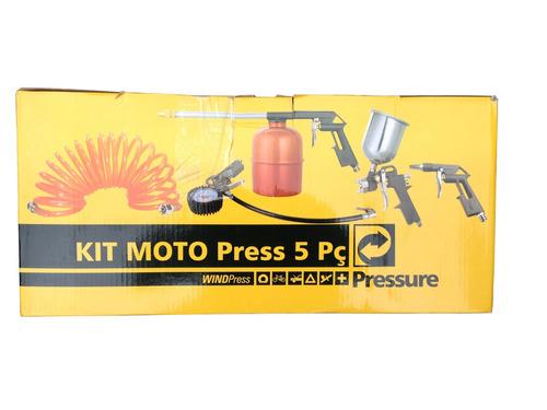 kit para pintura, 5 peças revolver, pressure
