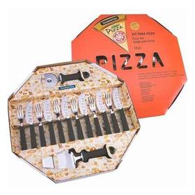 Kit Para Pizza Tramontina 14 Peças Preto Original