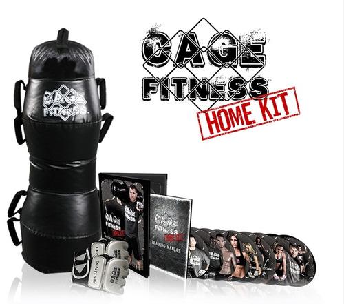 kit para práctica de kickboxing mma cage fitness importado