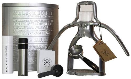 kit para preparar café express espresso a mano rok