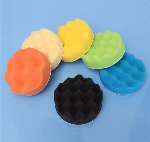 kit para pulir de 7 pulgadas, borla de lana, esponjas, base y adaptador p/taladro. e