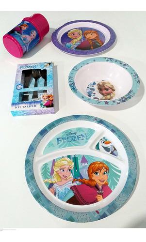 kit para refeição infantil melamina 6 peças frozen gedex