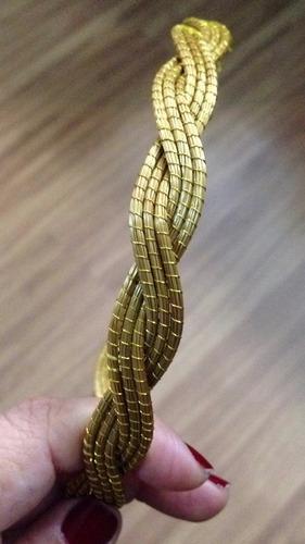 kit para revenda com 06 tiaras em capim dourado