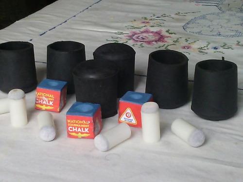kit  para  tacos  pool 6 perillas + 6 soportes + 3 tizas