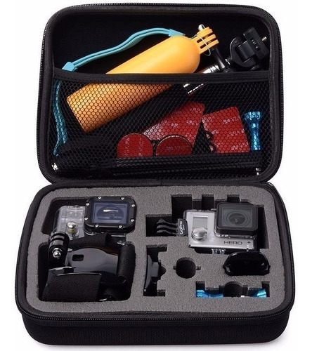kit para todas as câmeras go pro hero maleta 3 way flutuante