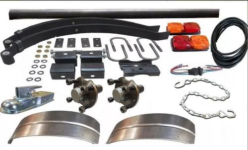 kit para trailer 800 kg completo kit 27