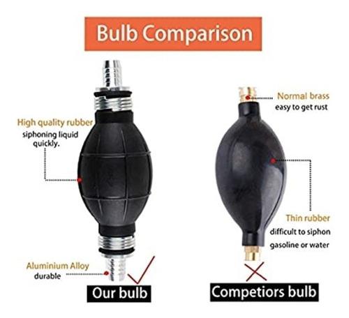 kit para trasegar gasolina aceite manguera/bombin manual *