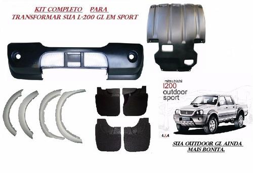 kit parachoque dt. + acessorios l-200 sport gls 2005 / 2012