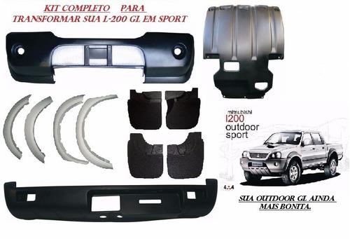 kit parachoque dt. tr.+ acessorios l-200 sport gls 2005/2012