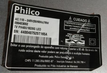 kit parafusos completos externo/inter tv philco42 ph40u16dsg