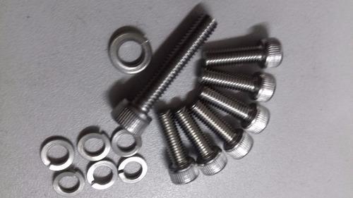 kit parafusos inox 6-m5x16 + 1-m6x30 p/mesa bike mtb e speed