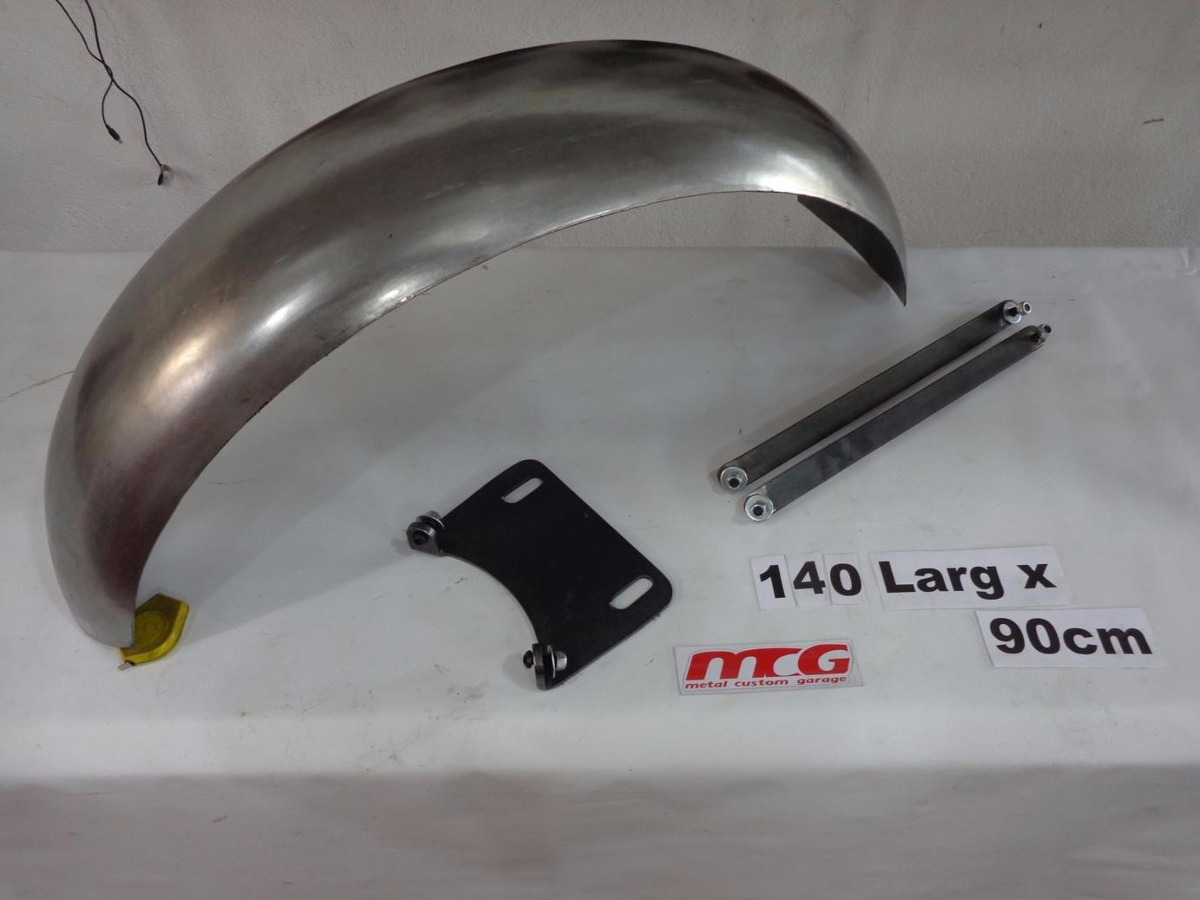 Kit Paralama Bobber 90cm + Hastes Grampo Suzuki Intruder 125