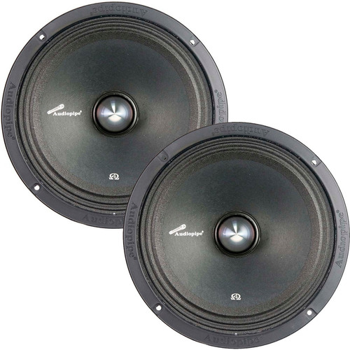 kit parlantes medio bajo 6 400 w 200 rms audiopipe 4 ohms