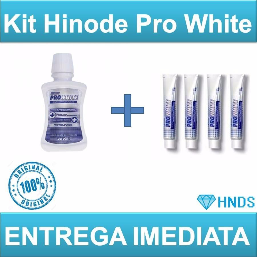 Kit Pasta Dental Clareadora Enxaguante Bucal Hinode Prowhite R 59