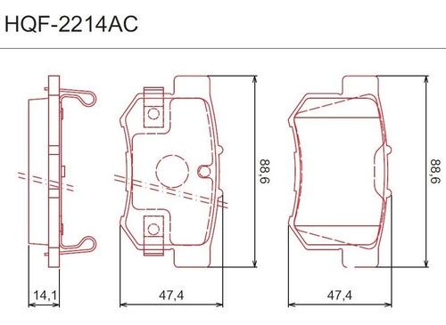 kit pastilha de freio dianteira e traseira cerâmica ferodo honda civic 2012 2013 2014 2015 2016