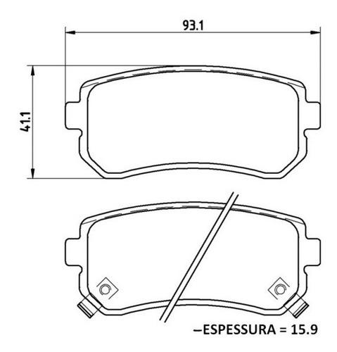 kit pastilha de freio dianteira + traseira sonata 2.4 2012