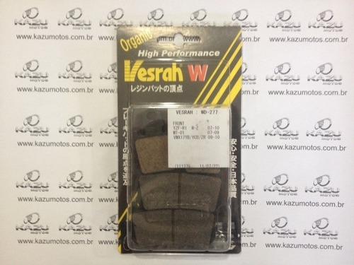 kit pastilha de freio dianteiro ya r12007 ed vesrah - wd-277