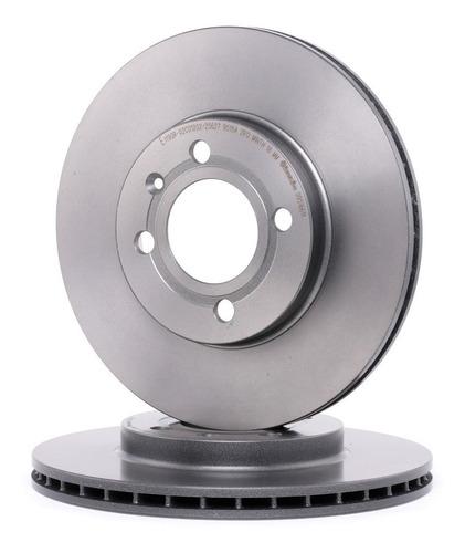 kit pastilha de freio + disco dianteiro punto 1.4 elx 2010