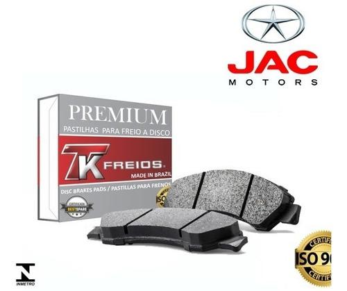 kit pastilha freio dianteira e traseira jac t5 / t40