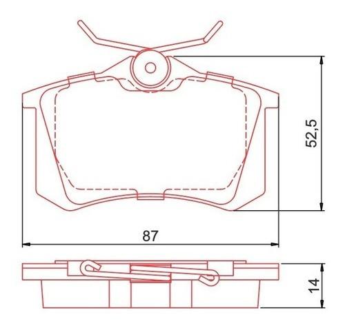 kit pastilha freio dianteira traseira cerâmica fluence 10/18
