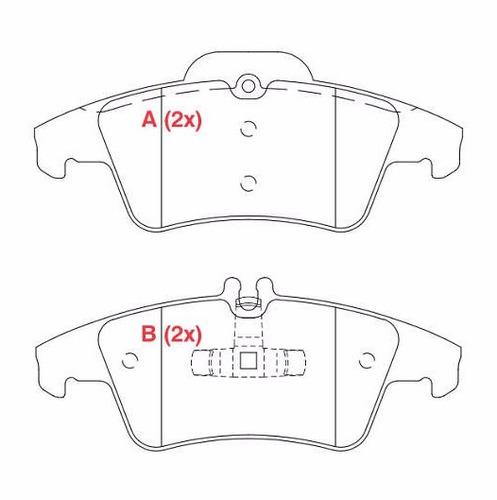kit pastilha freio dianteira + traseira mercedes 07/14 c180