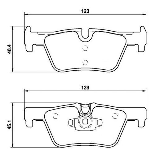 kit pastilhas dianteira + traseira  + sensores bmw 320i 2012
