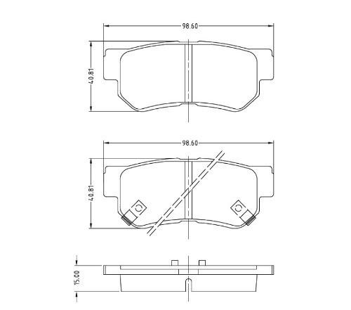 kit pastilhas + disco dianteiro e traseiro tucson 2014 bosch