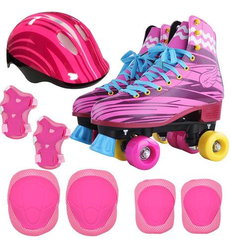 kit patin 4 ruedas gadnic tipo soy luna casco + protecciones