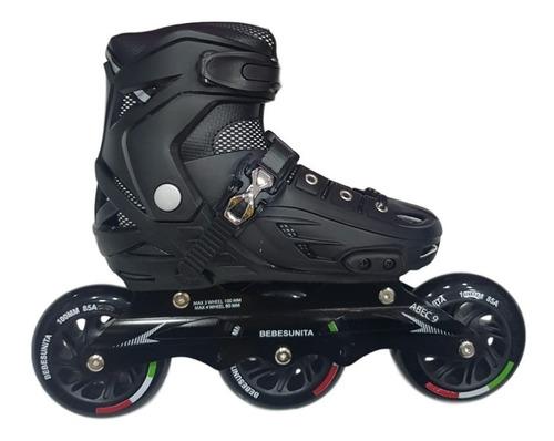 kit patines semiprofesionales llanta goma ajustable unisex