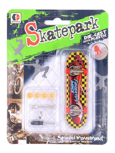 kit patineta skate fingerboard tipo tech deck 96 mm