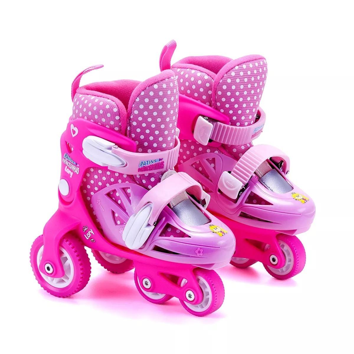 b7a03b0c938 kit patins ajustável rosa c  acessórios 27 ao 30 - unik toys. Carregando  zoom.
