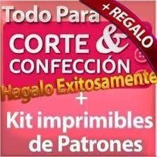 kit patrones corte y confección - envio gratis a tu meil