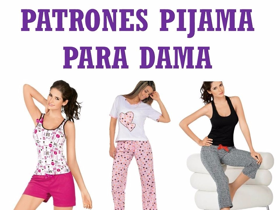 Kit Patrones De Pijama Para Dama Molde Mujer Short Pantalon - Bs. 300