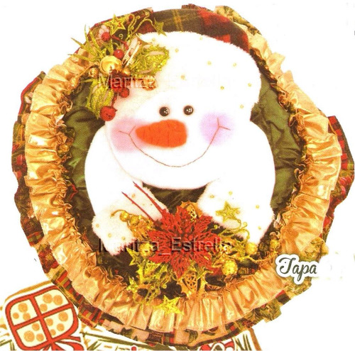 kit patrones lenceria navidad juegos de baños muñecos arbol