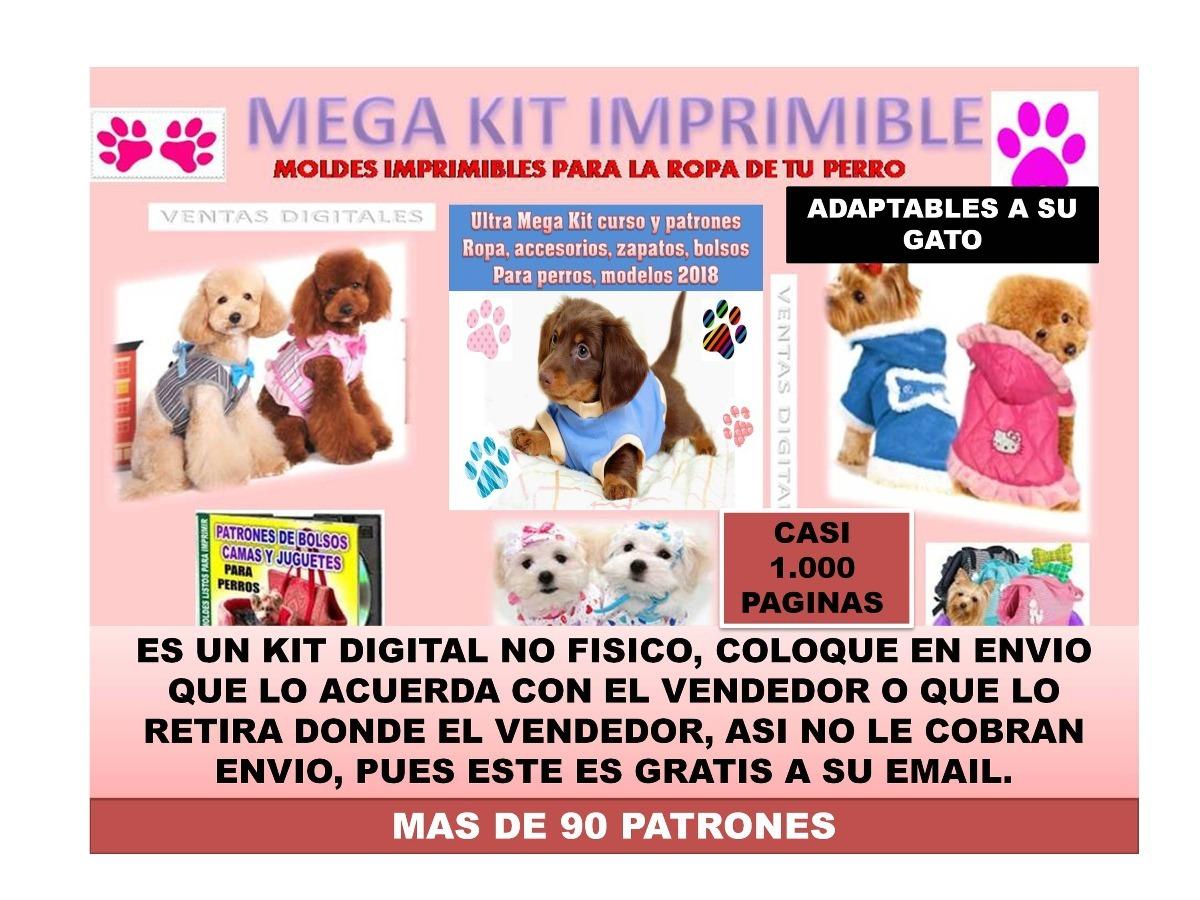 Kit Patrones Ropa Para Perros Disfraces Camas Sillones Y Mas - Bs ...