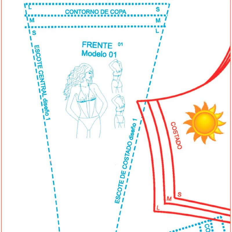 Kit Patrones Trajes De Baño Bikini Trikini Ropa Intima - Bs. 80,00 ...