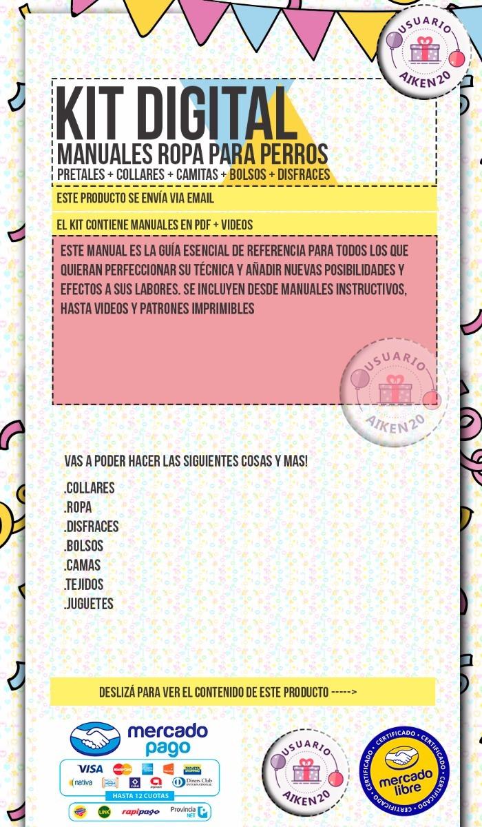 Kit Patrones Videos + Manuales Para Hacer Ropa Para Perros - $ 29,00 ...