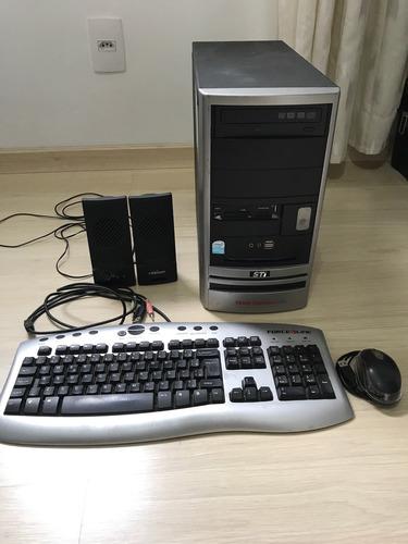 kit pc cpu + teclado + mouse + caixas de som