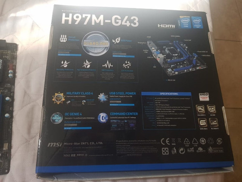 kit pc gamer placa mãe msi h97m-g43 intel i5 4440 + 12gb ram
