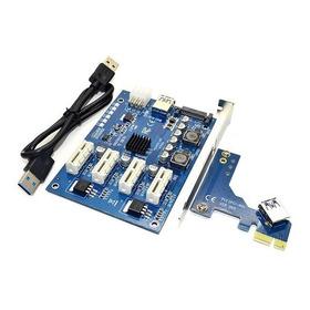 Kit Pci-e X1 Para 4pci-e X16 + 4 Riser