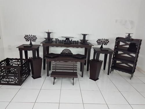 kit peças mesas provençais decoração festa provençal infanti